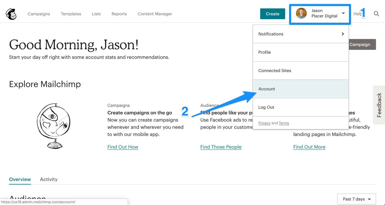 step 1 to adding email marketing integration to your handyman website
