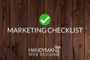 handyman marketing checklist