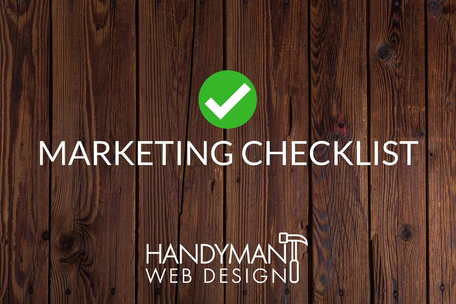 handyman marketing checklist
