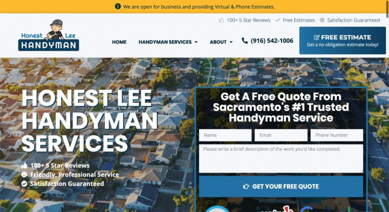 honest lee handyman seo screenshot